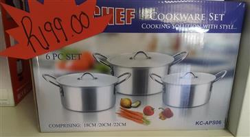 Chef 6 piece cookware set