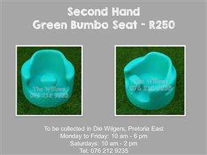 Second Hand Green Bumbo Seat