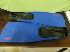 Diving glasses and flippers & board