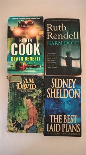 4 Fiction books for sale