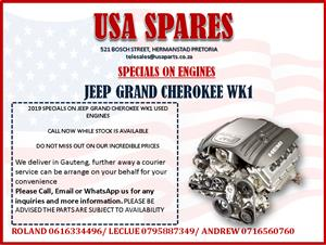 JEEP GRAND CHEROKEE WK1 2019 USED ENGINE SPECIALS