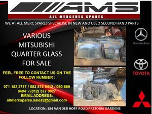 VARIOUS MITSUBISHI QUARTER GLASS FOR SALE