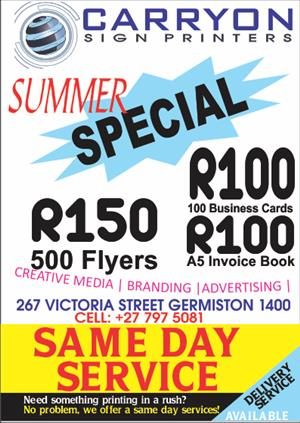 PRINTING IN GERMISTON
