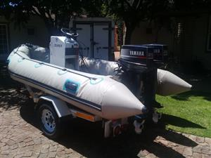Rubber Duck with Galvanised Trailer for Sale