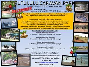 Camping, family units and backpackers rooms available