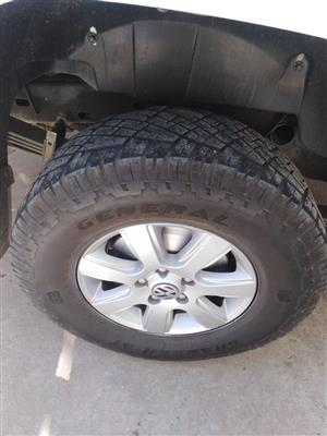 """VW AMAROK 16"""" TYRES AND RIMS"""