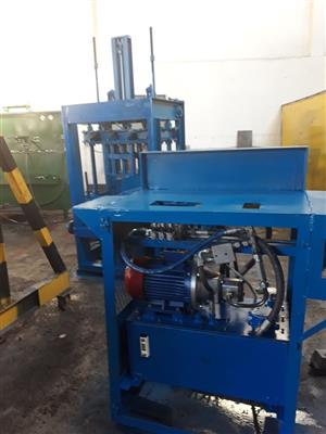 Available for purchase now is a 380 V brick making machine....contact us for pricing