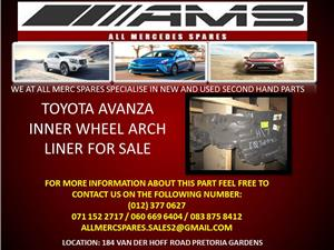 TOYOTA AVANZA INNER WHEEL ARCH LINER FOR SALE
