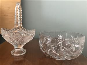 Crystal Bowl & Basket