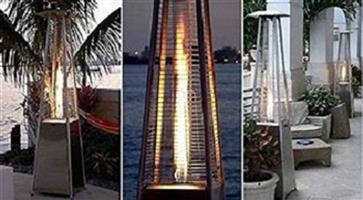 Alva DESIGNER glass Flame Throwing patio heater - FREE DELIVERY IN SA