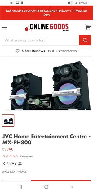 JVC home entertainment centre