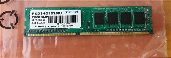 New 4GB RAM DDR3 1333MHz Desktop Memory | Junk Mail