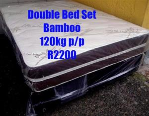 Bamboo double bed set