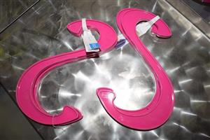Pink wall hangers for sale