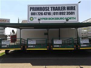 Trailer hire Primrose Engen Garage /BP boksburg notth