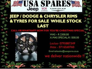 JEEP , DODGE AND CHRYSLER RIMS AND TYRES FOR  SALE NOW ON SPECIAL