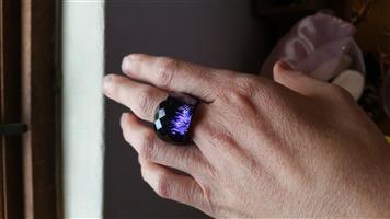 Swarovski Purple Crystal Nirvana Ring