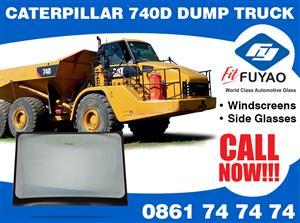 Brand new windscreens for sale for CAT 740D Dump Truck #CAT740