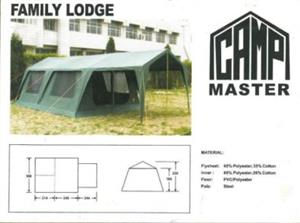 Camp Master Family Lodge Canvas Tent