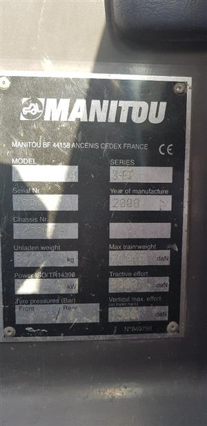 2008 MANITOU 845-120 TELEHANDLER FOR SALE