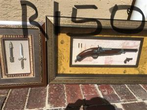 Gun and knives portraits
