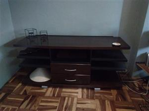 Coricraft mahogany tv unit
