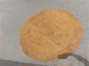 Round beige carpet for sale