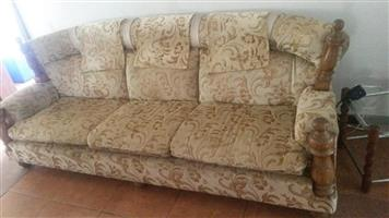 3 Seater beige couch