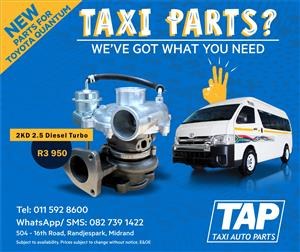 NEW 2KD 2.5 Diesel Turbo - Replacement part for Toyota Quantum - Taxi Auto Parts - TAP