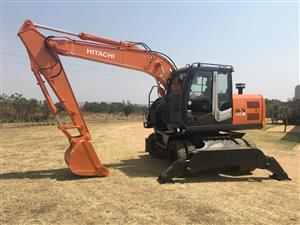 2010 Hitachi ZX140-3 Wheeled Excavator for Sale
