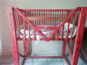 Handmade wooden cot