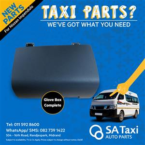 NEW Glove box / Cubby-hole suitable for Nissan NV350 Impendulo - SA Taxi Auto Parts quality spares