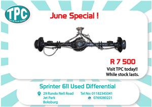 Sprinter 611 Used Differential for Sale at TPC