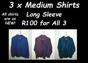 3 x Medium Shirts