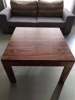 satinwood coffee tables x2