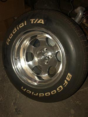 "15"" mags with BF Goodrich tyres brand new"