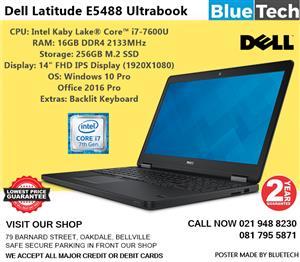 Dell Latitude E5488 Ultrabook - Core™ i7-7600U - 16GB DDR4 - 2 Year Guarantee