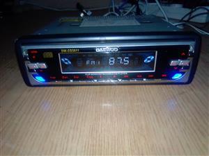 A Daewoo car radio.