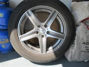 Wheel rim 17 inch and tyre