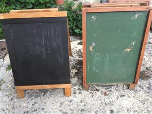 Chalk Board Double Sided Green Needs a bit of Attention