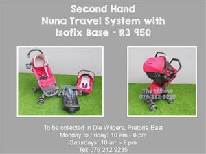 Second Hand Nuna Travel System with Isofix Base