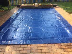 The standard pool cover.