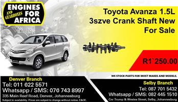 Toyota Avanza 1.5L 3szve Crank Shaft New For Sale.
