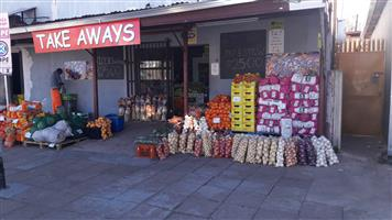 Busy take away and fruit shop for sale