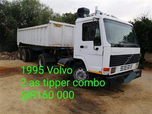1995 Volvo & 2 as tipper combo