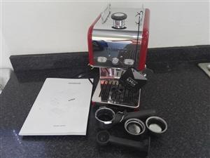 Raspberry Red Kenwood K Mix Espresso Coffee Machine with Milk frother.