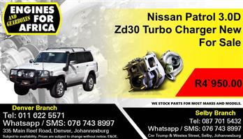 Nissan Patrol 3.0D Zd30 Turbo Charger New For Sale.