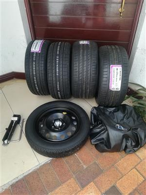 BMW F30 Brand New 18 inch Normal Tyres with Skinny Space Saver Spare Wheel kit Combo R10900