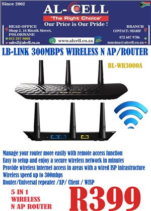 LB-LINK 300 Mbps Wireless N AP / Router