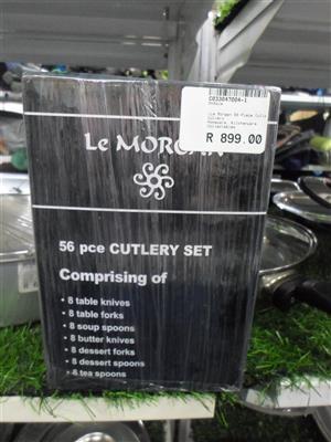 56pc.  Le Morgan Cutlery Set